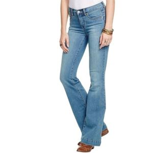 Free People Mid Rise Flare Jeans